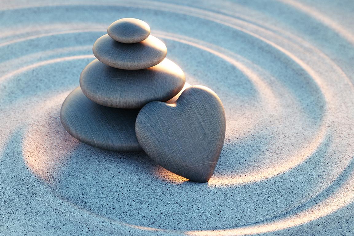 dieses Foto zeigt aufgetürmte Steine